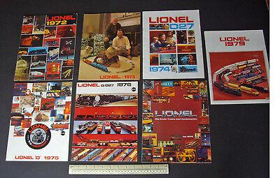 1972/73/74/75/76/78/79 Vintage Lionel Usa Model Railroad Catalogues X 7