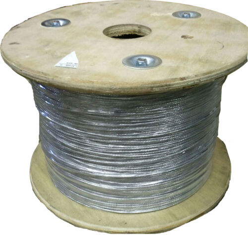 "1000/'  3//32/"" x 7 Strand Steel Guy Wire Masts Antennas 13 Gauge Cable"