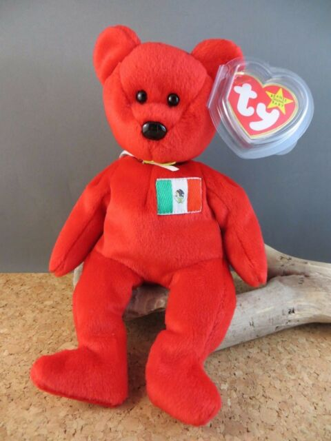 1999 Ty Beanie Babies Baby Osito Mexico Mexican Flag Toy Red Teddy Bear  132 07007222f165