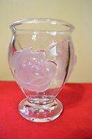 TELEFLORA ART GLASS VASE PINK ROSES MADE IN FRANCE