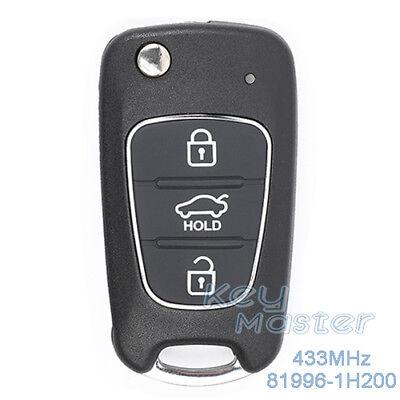 Upgraded Flip Remote Key Fob 433MHz 4D60 for Kia Cerato 2014-2016 95430-A7101