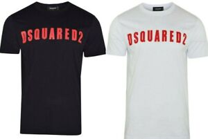 DSQUARED2-T-Shirt-Short-Sleeves-Slim-Fit-Printed-Logo-All-Sizes-S-M-L-XL-XXL