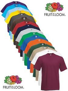 Fruit-of-the-Loom-Plain-Blank-Mens-Mans-Cotton-Tee-Shirt-Tshirt-T-Shirt-NEW