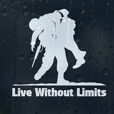 Military Army Warriors Live Without Limits Car Bumper Window Decal Vinyl Sticker