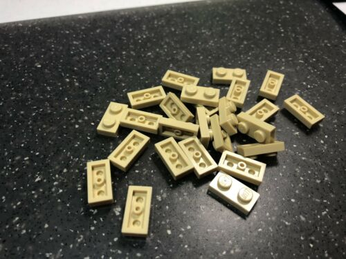 *NEW* LEGO lot of 25 Tan 1x2 plates Part # 3023
