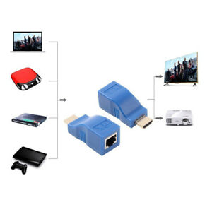 2pcs-1080P-HDMI-Extender-to-RJ45-Over-Cat-5e-6-Network-LAN-Ethernet-Adapter-Blue