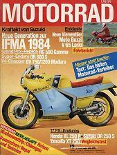 Motorrad 12 1984 Test Moto Guzzi V65 Lario Honda NS250 Heinkel Suzuki DR250S