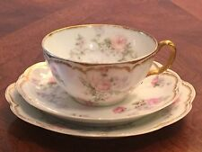Haviland Limoges Schleiger 261 Double Gold Trio Cup, Saucer and Plate