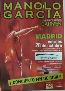 MANOLO-GARCIA-MADRID-PROMO-POSTER-90cm-X-140cm-MUY-RARO