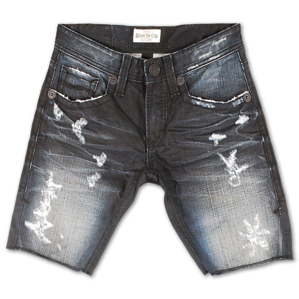 Rivet De Cru Blau Graphite Denim Shorts