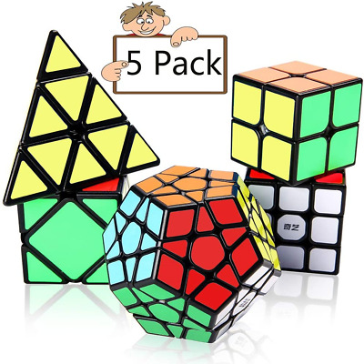 Speed Cube Set,Vdealen Professional Magic Cube Set of 2x2x2 3x3x3 Stickerless Py