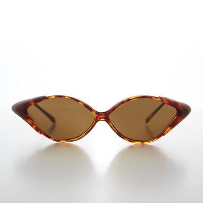 90s Jahre Diamantförmig Vintage Sonnenbrille Mit Seite Schutz Tort / Braune