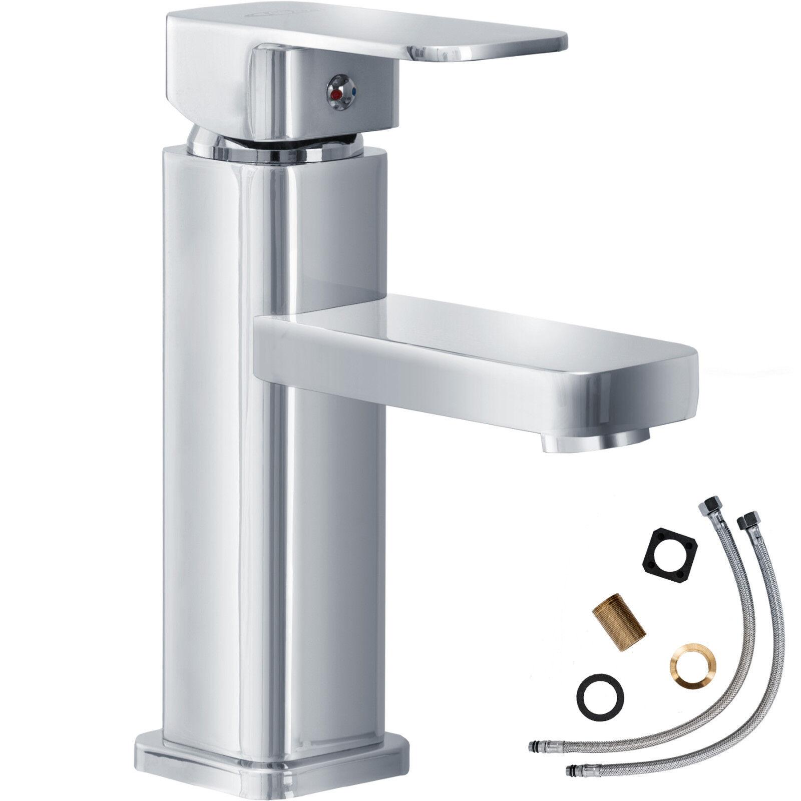 Rubinetto monocomando miscelatore rubinetteria lavabo bagno piazza piazza piazza cromata  nuov b9a056