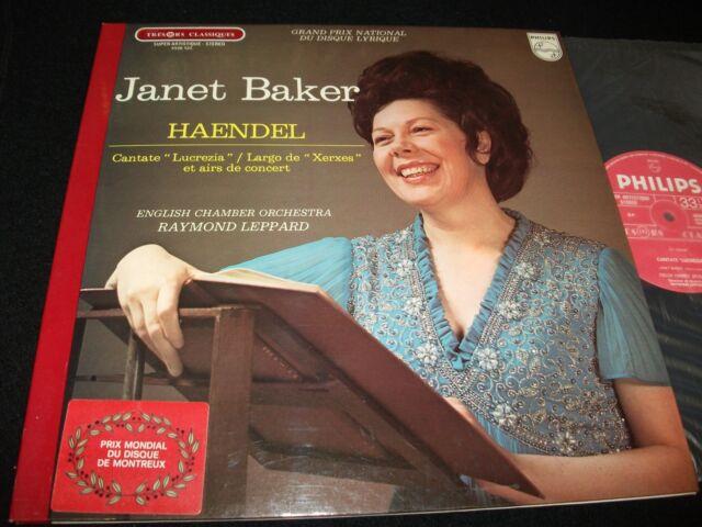 HANDEL° LUCREZIA<>JANET BAKER& LEPPARD<>Lp Vinyl<>FrancE Pressing<>6500 523