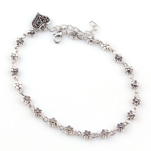 Fashion Lady Silver Bead Chain Anklet Ankle Bracelet Barefoot Sandal Foot UWUK