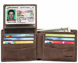 Mens-Genuine-Leather-Bifold-Wallet-with-2-ID-Window-and-RFID-Blocking-Coffee