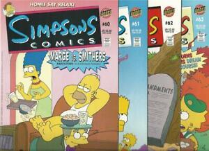 Simpsons-Comics-60-61-62-63-lot-of-4-Near-Mint-Bongo-Unread-c