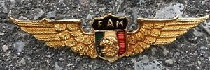 Vintage-Mexican-Air-Force-Pilot-Wings-Badge-Pin-Insignia-Mexico-F-A-M-Military