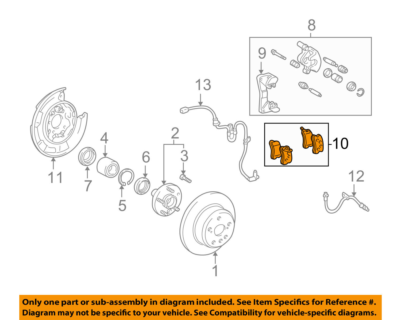 Front Set OE Stock Rotors /& Ceramic pad Brake Replacement 6 pieces ATL018110
