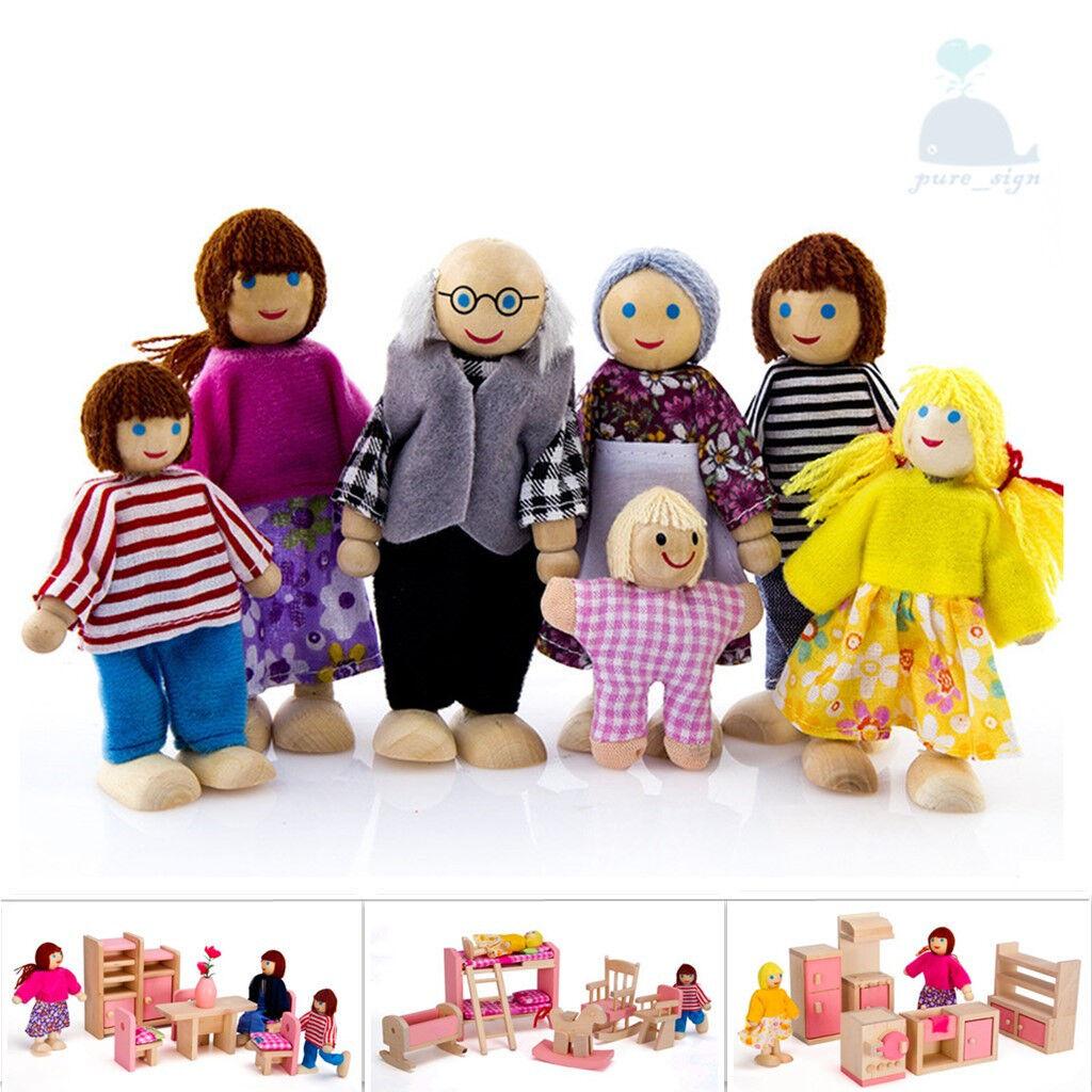 Classico & Ultimo Mobili in Legno Bambino Casa Delle Bambole Famiglia Miniatura