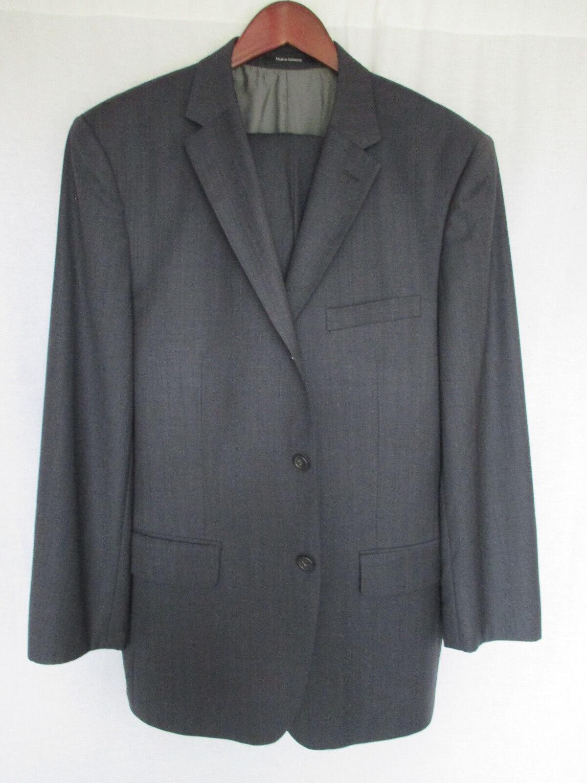 Pronto  Herren grau Hidden Pinstripe  Herren Suit 38/39R 34x28 Double Vented 100% Wool