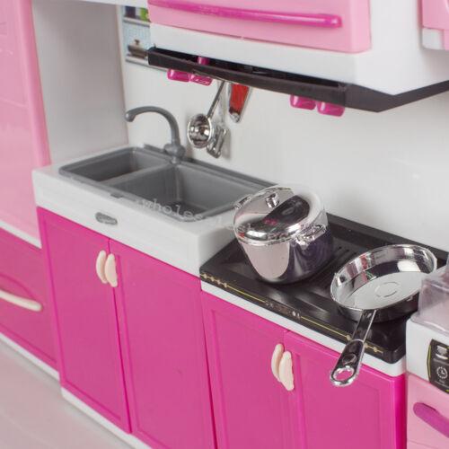 Mini Kitchen Pretend Play Cooking Set Cabinet Stove Toy Kid Children/'s Best Gift