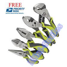 Pliers Set Needle Nose Lineman Diagonal Joint NEW NIP Craftsman Evolv 5 pc