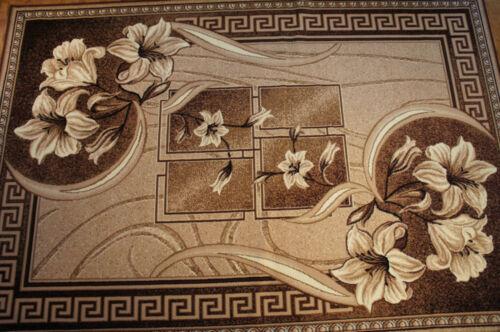 """Moderner Teppich Kurzflor Kollektion /""""Gold/"""" 365//12 Braun Beige Blumen"""
