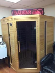 ZERO EMF Blackstone Far infrared corner three person saunas on sale call Cell anytime: 1 780 265 6399 Alberta Preview