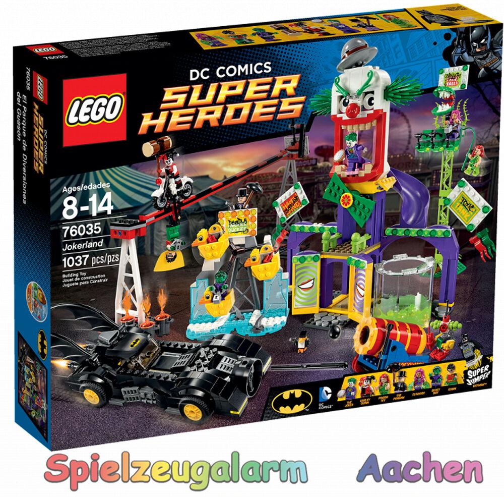 LEGO 76035 Super Heroes DC COMICS Joker Land Jokerland Batman Robin Beast Boy