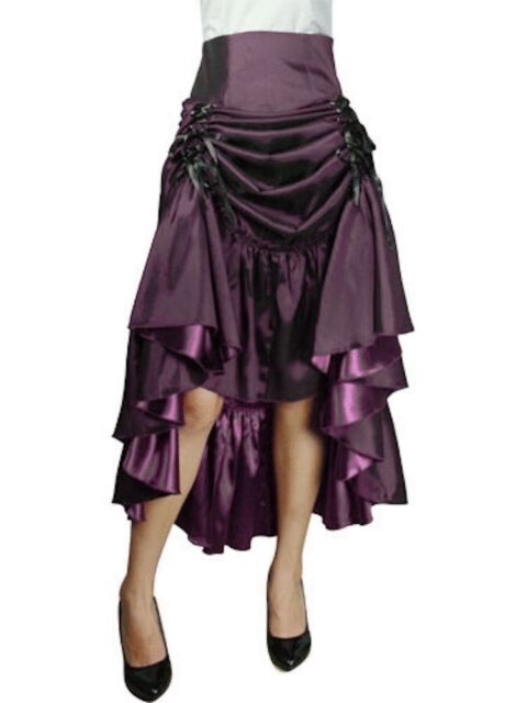 Purple Gothic Steampunk Punk Burlesque Long Pagan Wiccan Gypsy Vamp Pirate Skirt