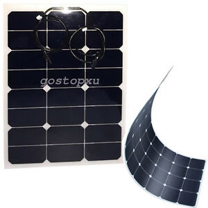 40w solarpanel solarmodul 13 6v halbflexibel solarzelle. Black Bedroom Furniture Sets. Home Design Ideas