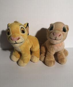 "Vintage Disney Lion King Simba & NALA Plush Stuffed Animal Toy 7"" Just Play"