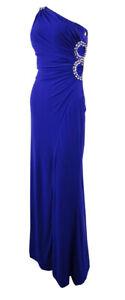 Hailey-Logan-Juniors-039-Embellished-One-Shoulder-Strap-Dress-7-8-Purple