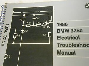 bmw 325es 1986 wiring diagram bmw 325e e30 factory electrical troubleshooting manual 1986 used  bmw 325e e30 factory electrical
