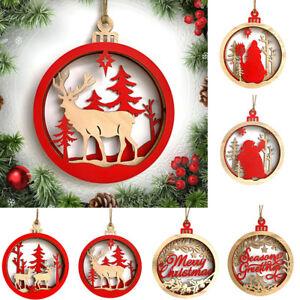 Eg-Natale-in-Legno-Pupazzo-di-Neve-Renna-da-Parete-Ciondolo-Ornamenti