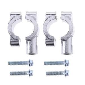 2-x-Universal-Motorrad-Spiegel-Lenker-Halter-Spiegelhalter-Spiegelschelle-25mm