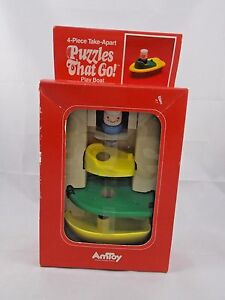 Vintage-AMTOY-Puzzles-That-Go-Play-Boat-Toy-NEW-1980