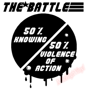 Knowing-Half-The-Battle-Violence-Action-Truck-Vinyl-Decal-Window-Sticker-Car