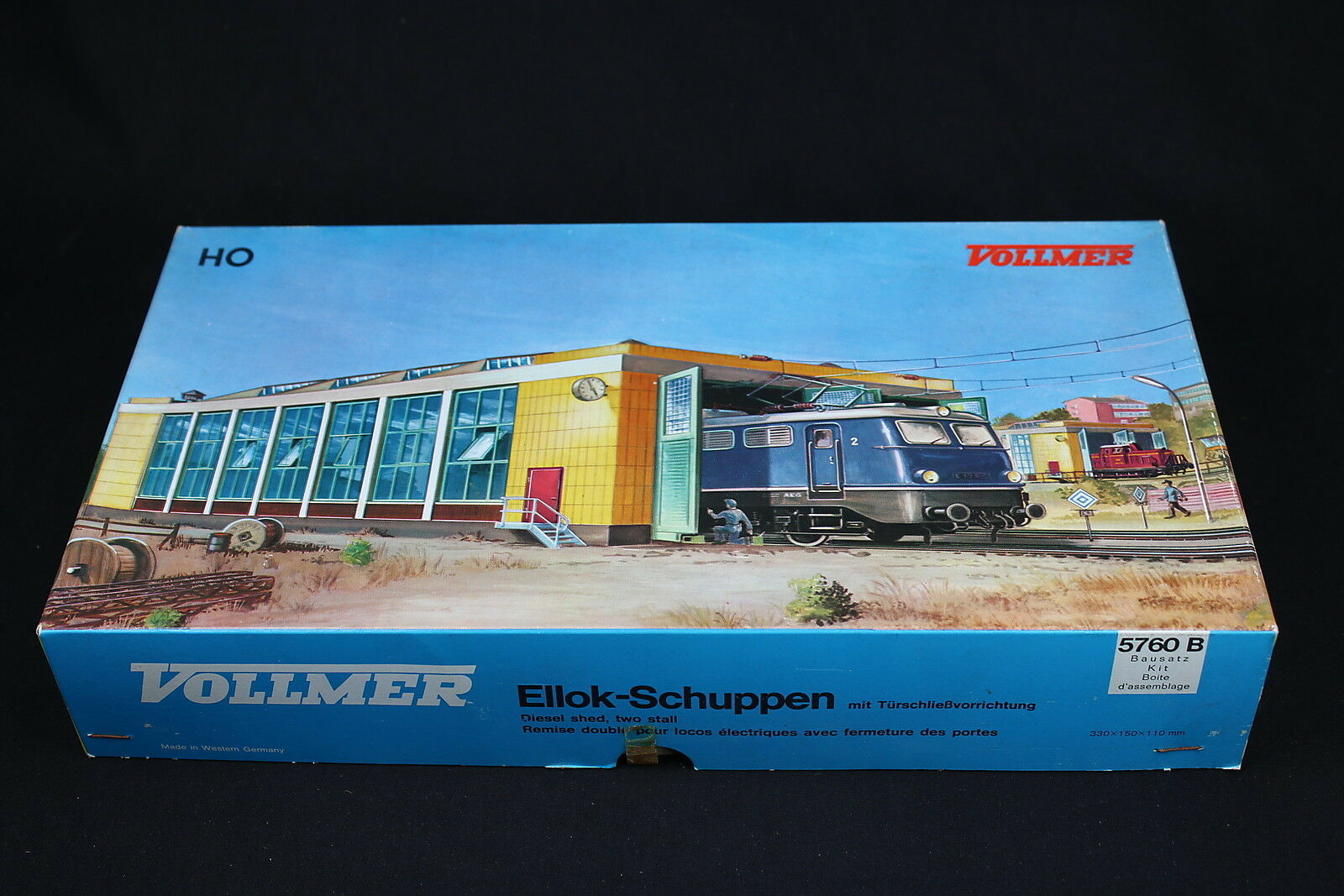 W285 Vollmer Train Ho Model 5760 B Eilok Schuppen Diesel Shed Two Stall