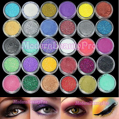 30 Mix Color Eyeshadow Eye Powder Shadow Cosmetics Makeup Salon Set
