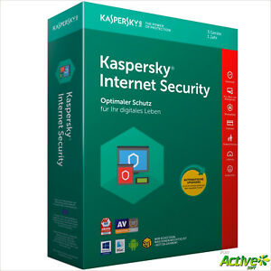 Kaspersky Internet Security 2018 | 3PC 1Jahr | VOLLVERSION / Upgrade DE-Lizenz