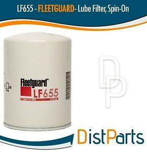 LF655 Fleetguard Lube Filter, Cross Donaldson P550227 (Pack of 2)