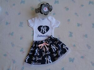 30e2bbcec Image is loading New-York-Yankees-Baby-Girl-Skirt-Personalized-Bodysuit-