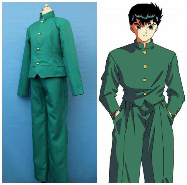 Hot! YuYu Hakusho Yusuke Urameshi Cosplay Costume FF.139