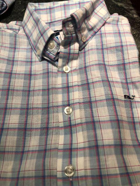 NWT Boy/'s Vineyard Vines Vintage Jake Blue Whale Pocket T-Shirt Size M Or L