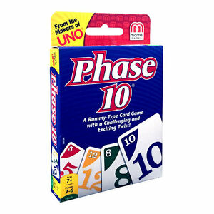 Phase 10 Card Game From Mattel Games W5800