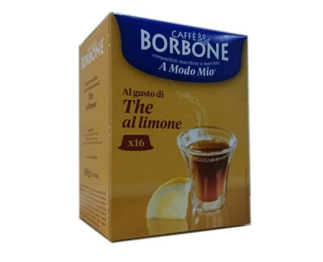 128 Kapseln Comp. Lavazza A modo mio - Zitronentee 8x16 - Caffè Borbone