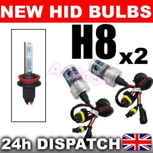 2x remplacement xenon ampoules HID H8 8000K fits 99/% Kits