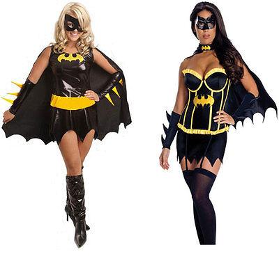 New Sexy Adult Super Women Hero Cosplay Costume Batman Halloween Fancy Dress